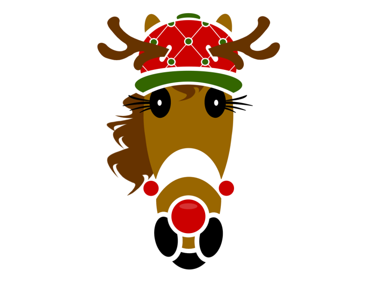 Rudy Ballcap with Red Nose (novelty Christmas hat)