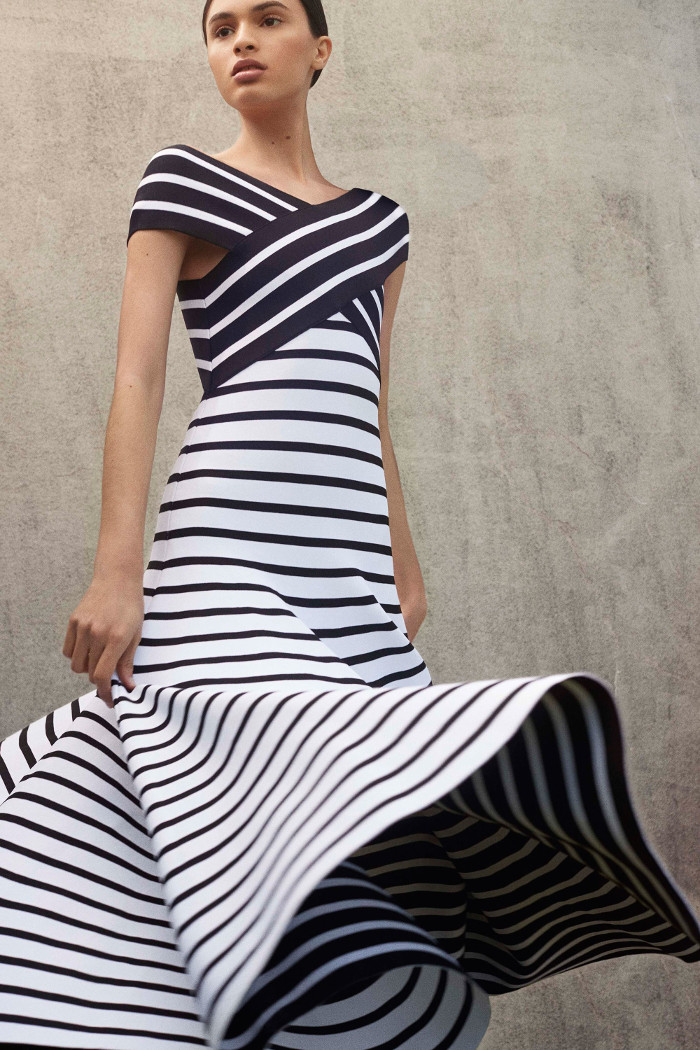 Striped dress from the From the 2018 Carolina Herrera Resort Collection. Source: Fashionisers online.