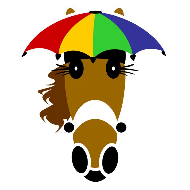 Splash umbrella hat design created by ©Vivian Grant Farrell exclusively for Hattingdon Horses®.