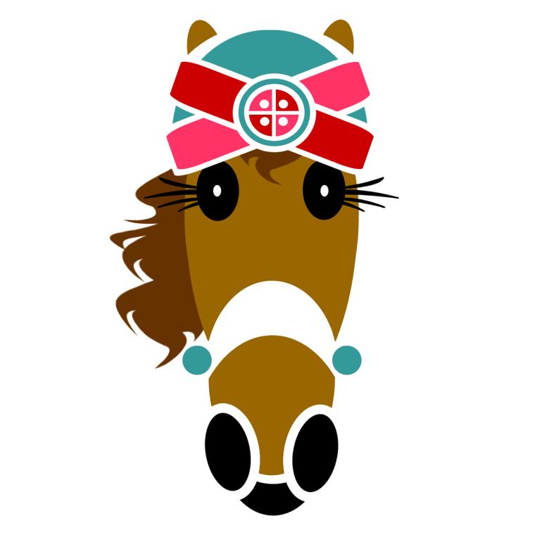 Anita turban design created by ©Vivian Grant Farrell exclusively for Hattingdon Horses®.
