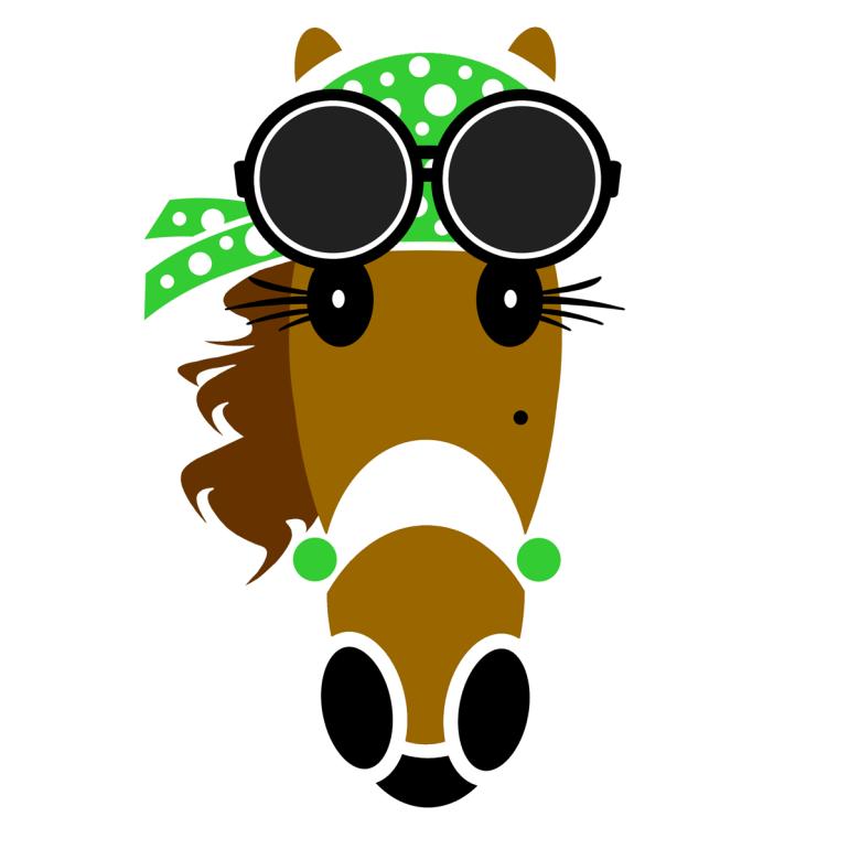Skylar Hattingdon green created by Vivian Grant Farrell for Hattingdon Horses®.